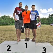 Kategorie 40-49 let: 1. Holub, 2. Čuchal, 3. Laube